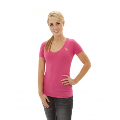 MFN Women's Premium DEEP V-Neck Shirt - Pink