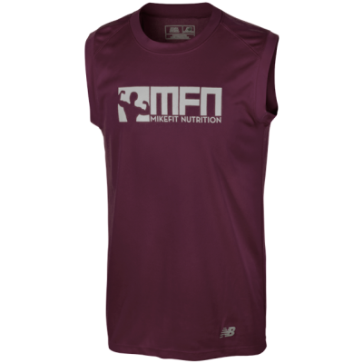 MikeFit MFN Performance Sleeveless Tee Maroon