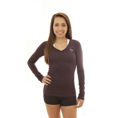 MFN Women's V-Neck Long Sleeve PRO - Purple