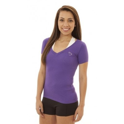 MFN Women's Premium DEEP V-Neck Shirt - Purple