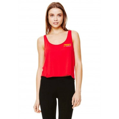 MFN Womens Cropped Tank - Red