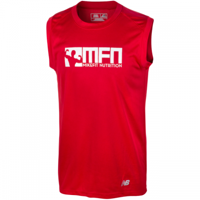 MikeFit MFN Performance Sleeveless Tee RED