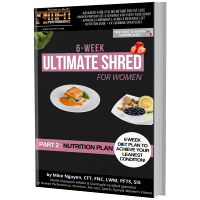 MFN WOMEN'S ULTIMATE SHRED - 6 Week COMPLETE NUTRITION PROGRAM