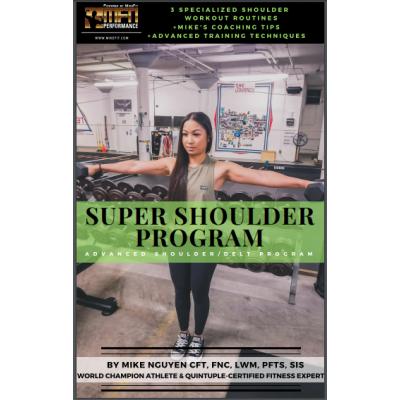 MFN SUPER SHOULDERS (3 Advanced Shoulder Routines at GYM) - 12 Week Program - Unisex