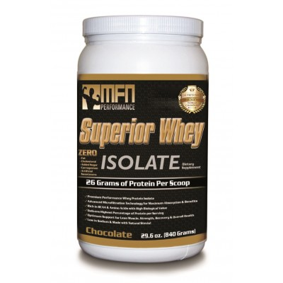 MFN 100% Natural & Pure Whey Protein Isolate (1.8 lbs / 28 Servings - Chocolate)
