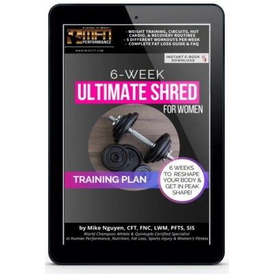WOMEN'S 6-WEEK ULTIMATE SHRED (Complete Training Program - Advanced)