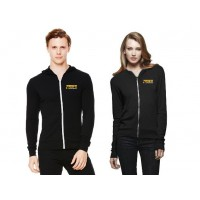 MFN Unisex Lightweight Fitted Hoodie - Black (Medium)